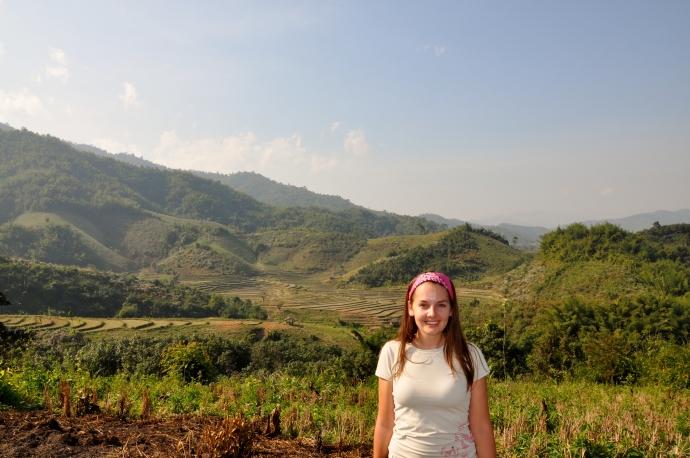 Near an Akha hill tribe village