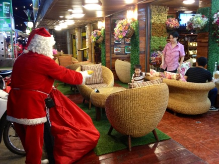 The real Santa actually lives in Thailand