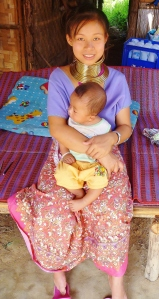 Kayan woman with baby