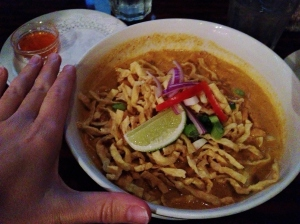 My favorite Thai food - This is 4 times the portion size that I get in Thailand