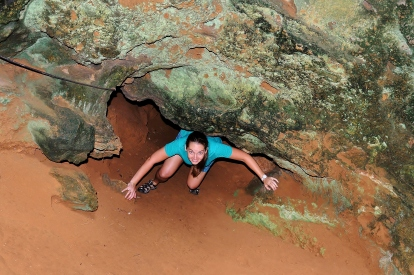 Climbing out of the cave