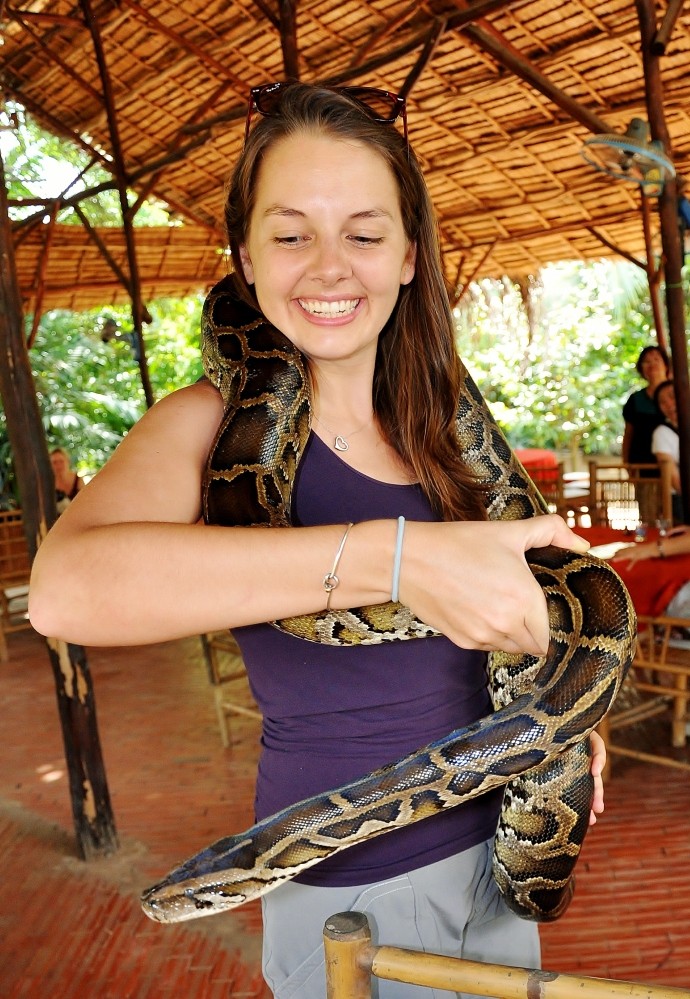 me and a constrictor