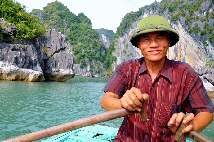 Vietnamese people wear great hats