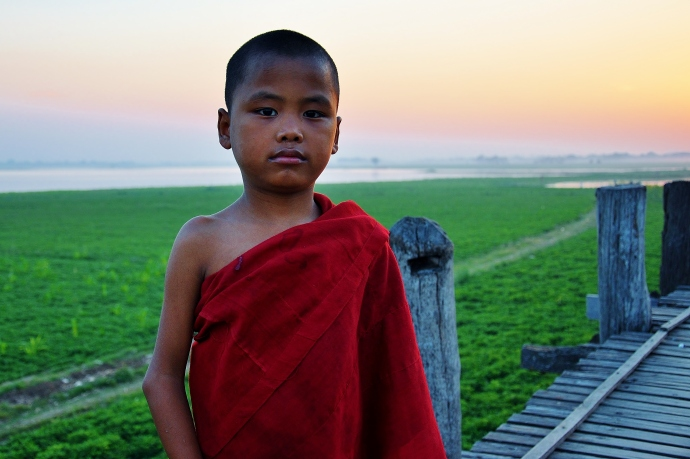 Burmese monk near Mandalay