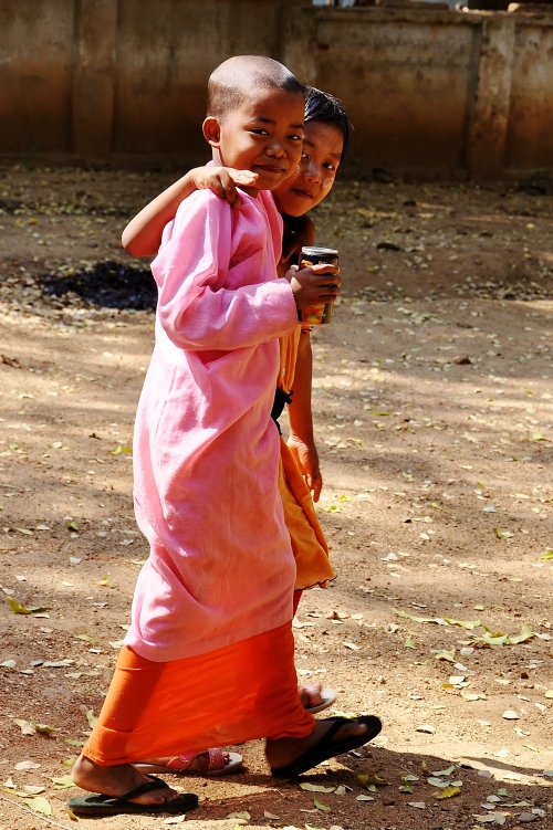 Little girl monk.
