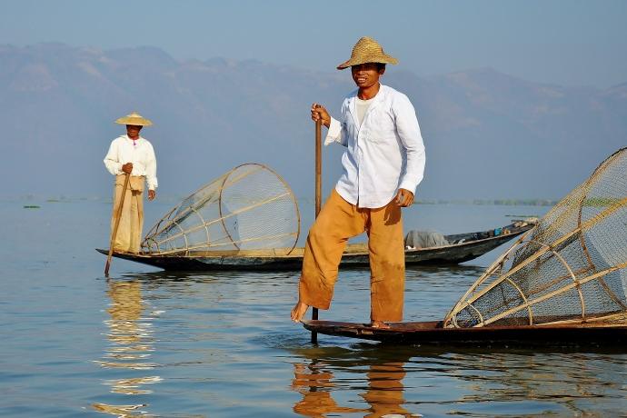Inle Lake fishermen.