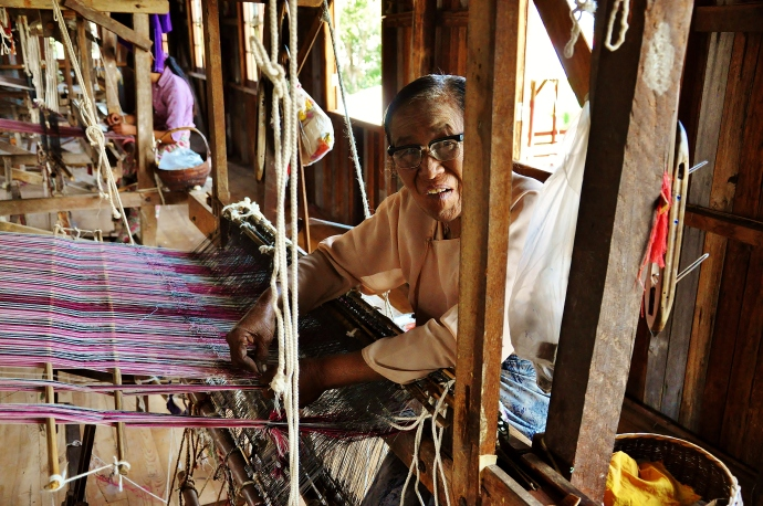 She has been weaving for 70 years