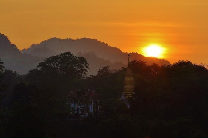 Sunrise in Kanchanaburi