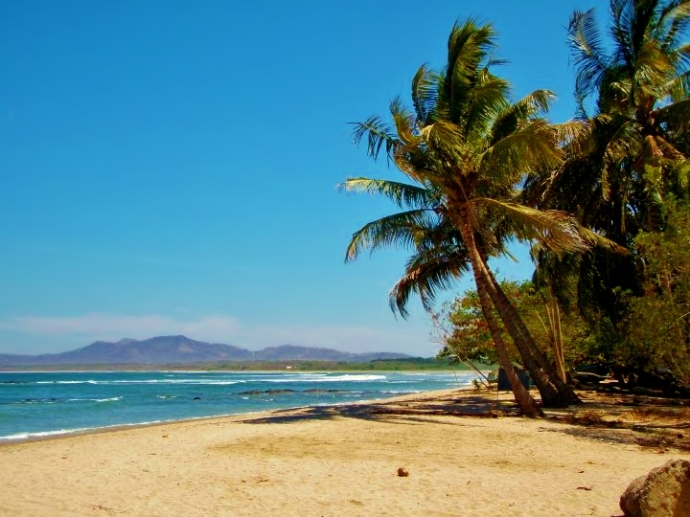 Beach on the Pacific Coast of Costa Rica