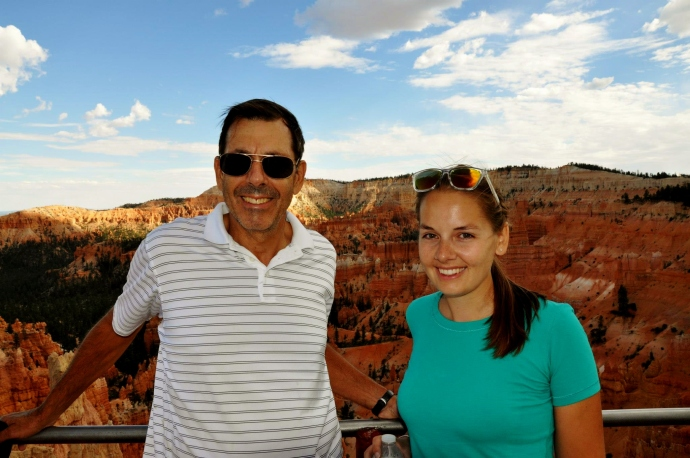Me and the old man at Bryce Canyon