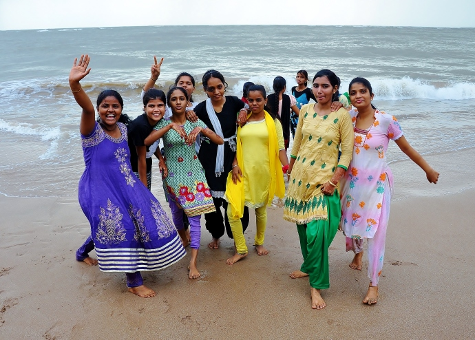 Girls from the largest slum in Mumbai at a women's empowerment leadership retreat