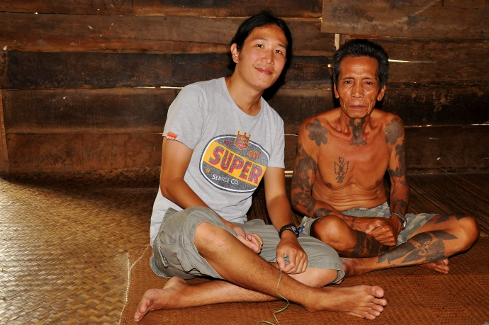 Iban man with tatoos