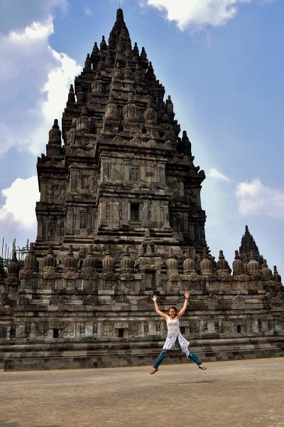 Me at Prambanan